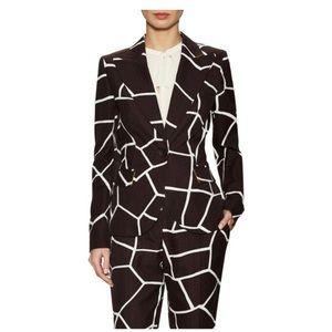 ESCADA runway mocha pattern blazer